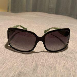 😎☀️Authentic Coach Black & Green Sunglasses